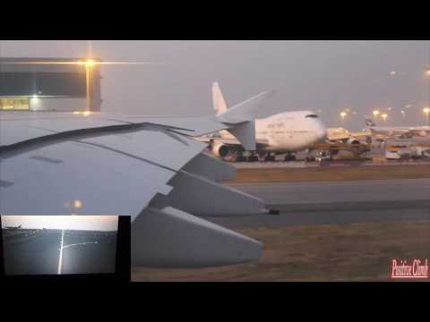 A380-861 Emirates Taxi and Take off From Hong Kong International Airport
