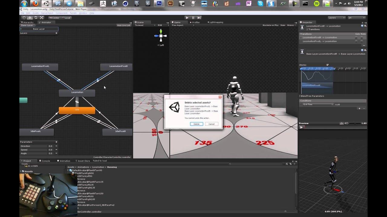 Unity Third Person Control: Mecanim Pivoting - Tutorial 13