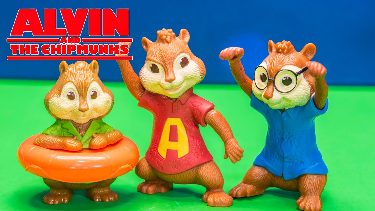 opening blind bag surprise with alvine and the chipmunks toys - youtube