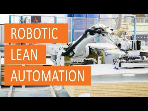 Robotic lean automation cutting center