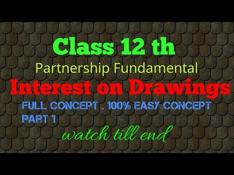Interest on drawings bhaut easy concept k saath.Very easy concept for students watch till end..