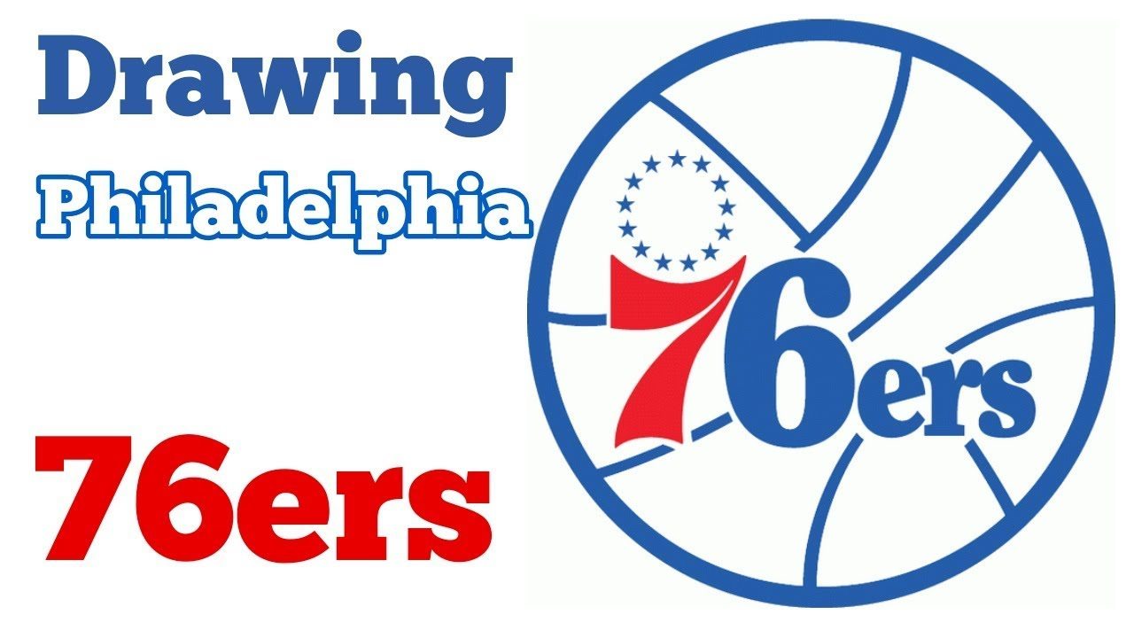 How To Draw The Logo Of Philadelphia 76ers Youtube