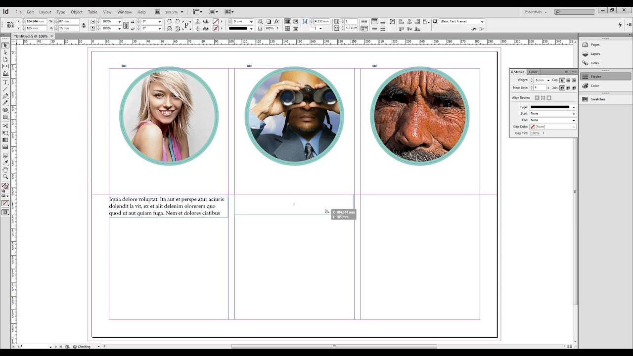 how to make a brochure on indesign