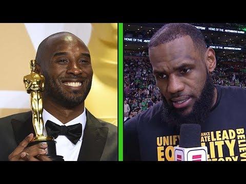 LeBron James & Shaq React to Kobe Bryant Winning an Oscar & His