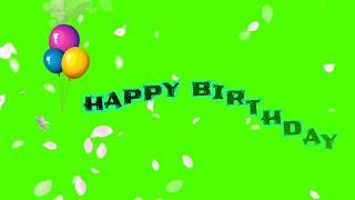 Happy birthday green screen effect