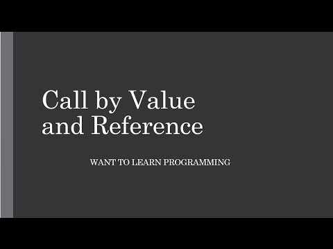 Basics of C Programing 29: Call By Value and Call by Reference