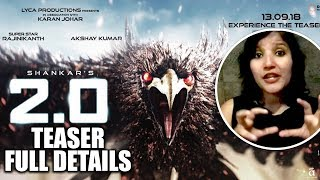 Akshay Kumar And Rajinikanth 2.0 Official Teaser Full Details Out |  | Amy Jackson | Shankar