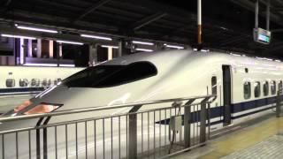 超過密! 4本の新幹線が連続発着! 名古屋駅にて!