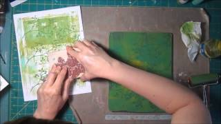 Gelli Plate Printing - Dollar Store finds and Stamps