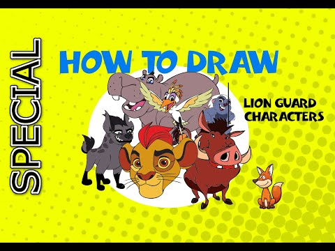 How to draw Lion Guard - STEP BY STEP ART GUIDE - ART LESSON