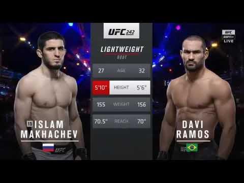 UFC 242 ИСЛАМ МАХАЧЕВ Против Дави Рамос полный бой