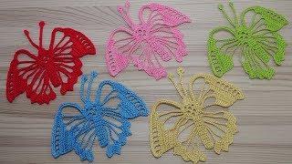 БАБОЧКА вязание крючком ЧАСТЬ 2.  How to crochet a butterfly