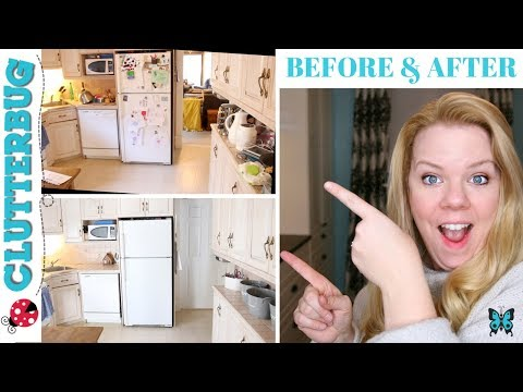 How to Organize a Messy Kitchen - Before and After Kitchen Organization