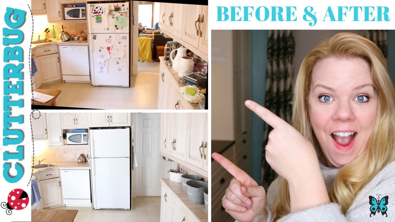 How To Organize A Messy Kitchen Before And After Kitchen Organization Youtube