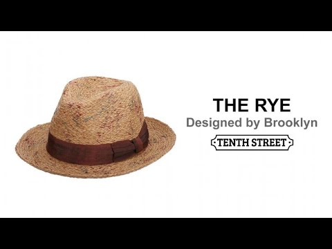 Brooklyn Straw Raffia Men s Fedora - The Rye. Tenth Street Hats 9b40764c1616