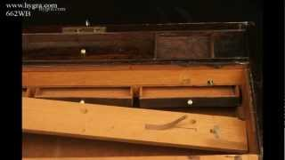 Antique Regency Writing Box/ Lap Desk In Figured Rosewood Circa 1815