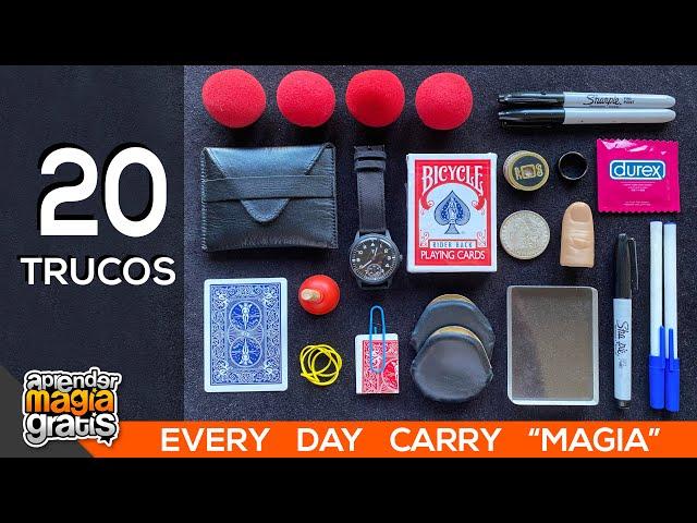 20 TRUCOS DE MAGIA que puedes hacer   Aprender magia gratis