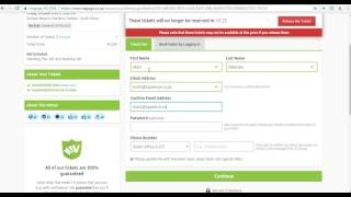 Viagogo booking process