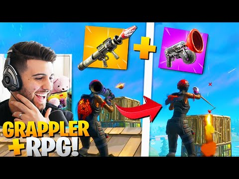 What Happens When You GRAPPLE Onto An RPG! (BOOST TRICK!) - Fortnite Battle Royale Season 2