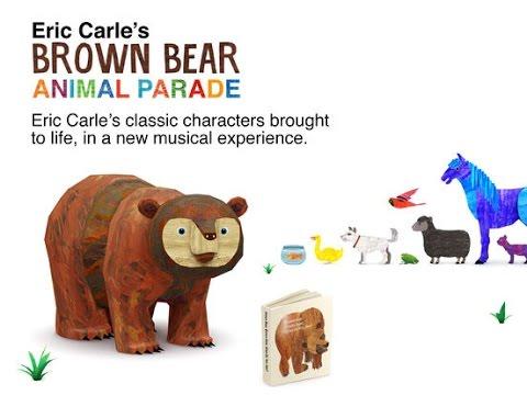 Brown Bear Animal Parade - Eric Carle - Best iPad app demo for kids - Ellie