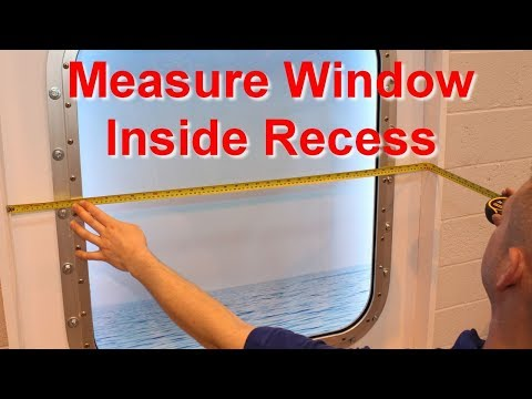 How to measure a window INSIDE recess by Solar Solve Marine