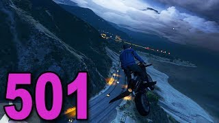Grand Theft Auto 5 Multiplayer - Part 501 - THE FLYING MOTORCYCLE