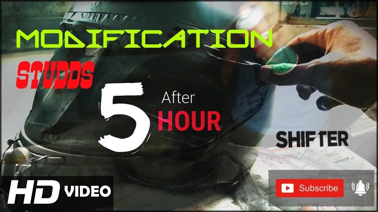 Studds Shifter Helmet Review Youtube: Studds Shifter Helmet Modification