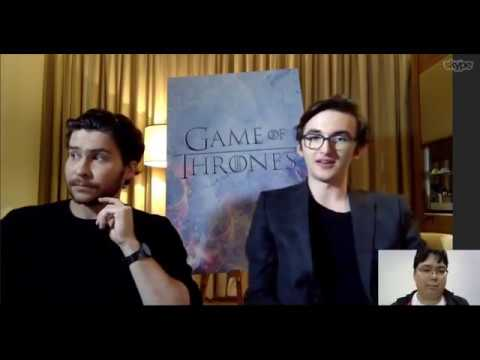 Game of Thrones   with Isaac HempsteadWright and Daniel Portman