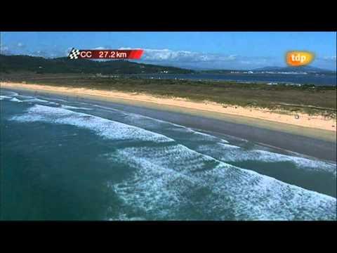 Vista de pájaro sobre la playa de La Lanzada (Sanxenxo - O Grove)