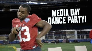 Watch the Alabama football team's best dancers bust some moves at Media Day
