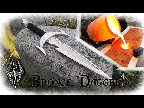 Casting a Bronze Dagger From The Game Skyrim (Mehrunes Razor)