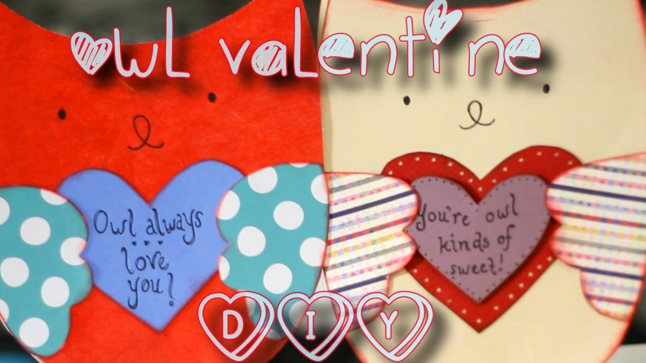DIY Easy Owl Valentine Card For Him Or Her YouTube