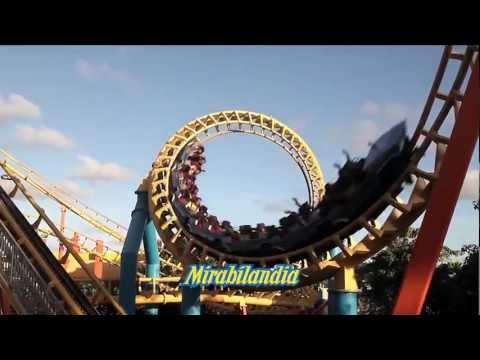 Mirabilandia Park - Clip montanha-russa Super Tornado - HD