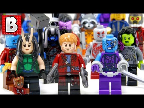 Every LEGO Guardians of The Galaxy Minifigure Ever Made!!! + Rare SDCC Collector Minifig!