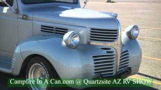 1940's RETRO DODGE VAN W/ Thor Travel Trailer - QUARTZSITE, AZ RV SHOW 2011