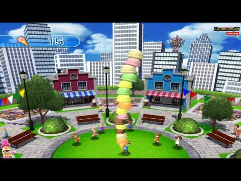 Wii Play: Motion - Cone Zone, Scoop Mode continuous play! Player Alex, Daddy, Mommy [1080p@60fps HD]