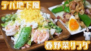 デパ地下風 春野菜たっぷりごちそうサラダ 2品の作り方【kattyanneru】 thumbnail