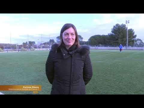 La Sélectionneure Corinne DIACRE en visite à Grammont !