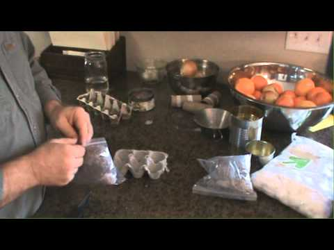 Making Wax Fire Starters From Egg Cartons