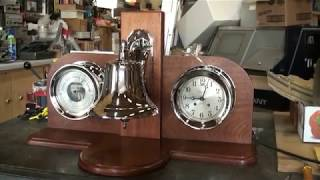Chelsea Automatic Ship's Bell with Barometer and Huge Bell