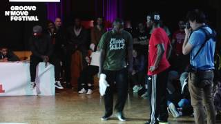 GROOVE'N'MOVE BATTLE 2017 - Popping semi- Final / Sally Sly vs Prince