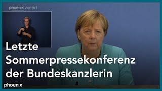 Letzter Auftritt von Angela Merkel als Kanzlerin bei der Bundespressekonferenz