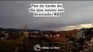 Fim de tarde do dia que nevou em Gramado/RS - 28/07/21