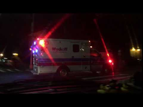 QUICK GLIMPSE OF A WYCKOFF HOSPITAL EMS AMBULANCE RESPONDING IN EAST NEW YORK, BROOKLYN, NEW YORK.