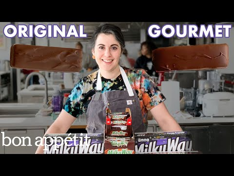 Pastry Chef Attempts to Make Gourmet Milky Way Bars | Gourmet Makes | Bon Appétit