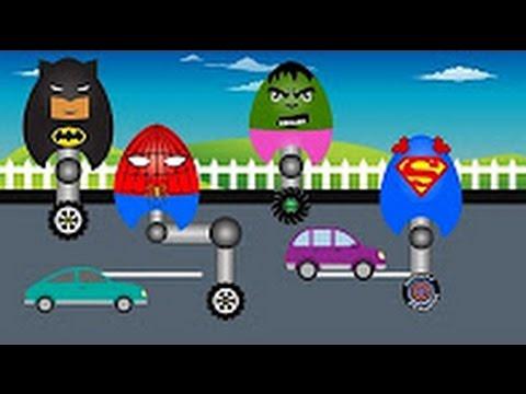 Супермен Халк Человек паук и Бэтмен Киндер Сюрприз для Детей - Детский Мультик