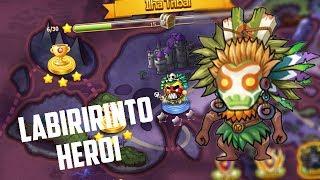 DDtank Mobile Brasil - Passando Labirinto Heroi Fase 1 e 2