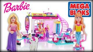 ♥ BARBIE Glam Salon Build N Play (MEGA BLOKS Creative Set for Kids & Girls)