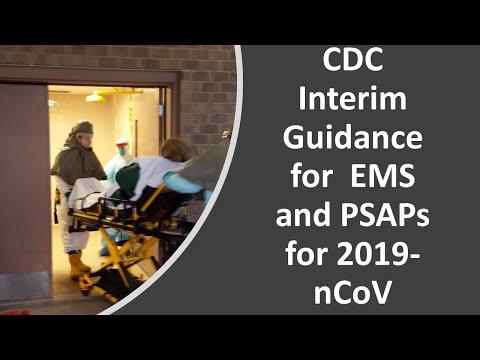 CDC Interim Recomendations For EMS PPE For Coronavirus