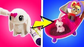 CRAYOLA Washimals NAJPIERW POMALOWANE - POTEM UMYTE 4 słodkie zwierzaki w wannie - kreatywne zabawy